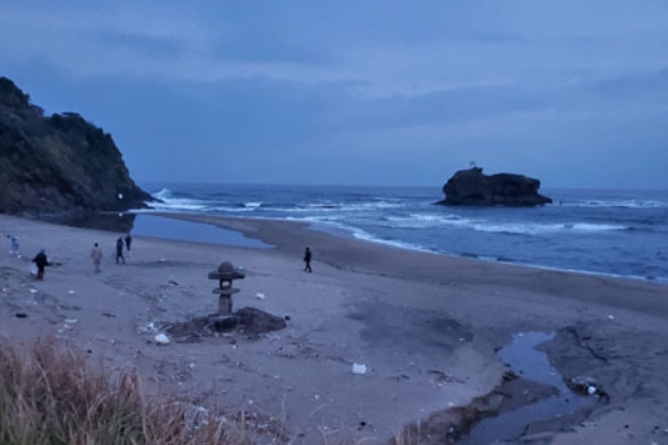 白兎海岸の燈籠