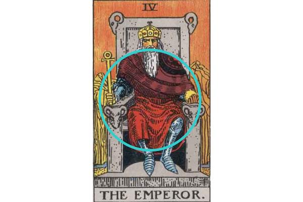 皇帝赤い服