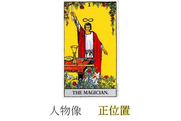 タロットカード魔術師正位置人物像