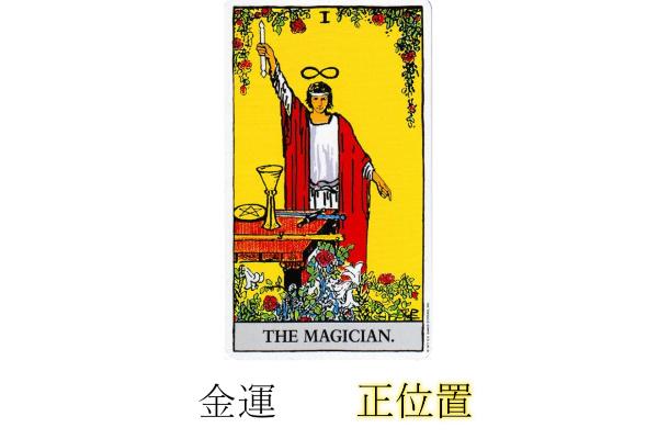 タロットカード魔術師金運正位置