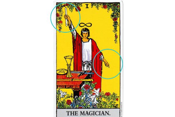 魔術師がさしている指の意味