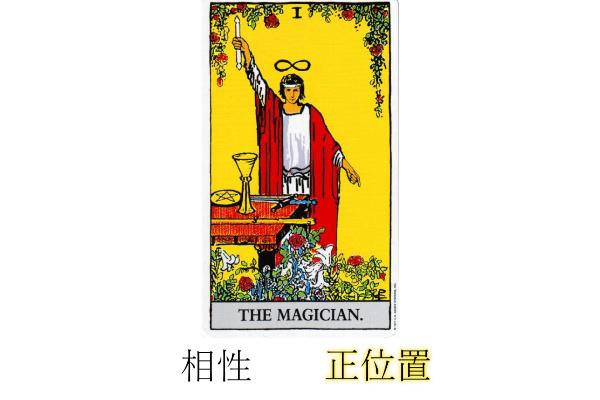 タロットカード魔術師相性正位置