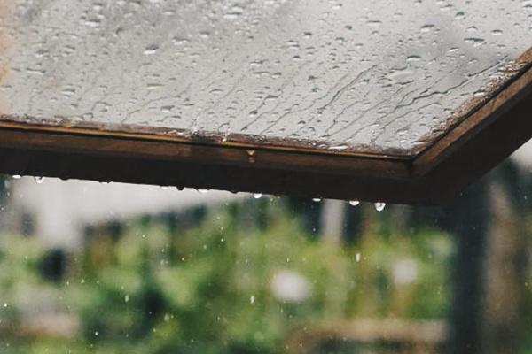 雨宿りをしている夢