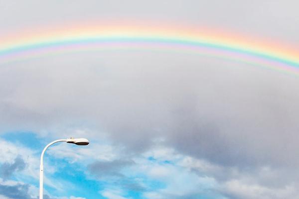 雨あがりに虹がかかる夢