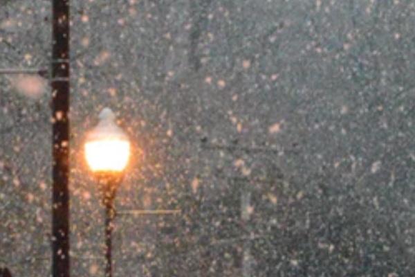 雪が降るのを見ている夢
