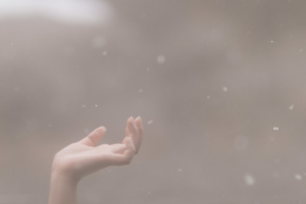 粉雪が舞っている夢