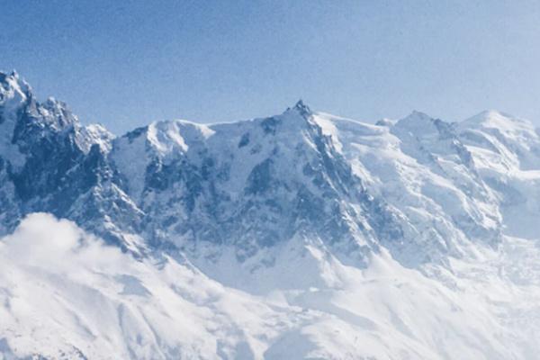 雪山を眺める夢
