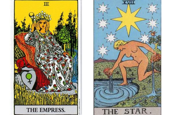 女帝と星のカード