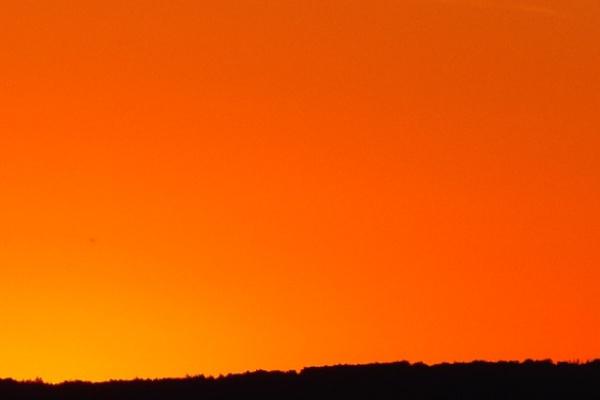 朝焼けの空の夢