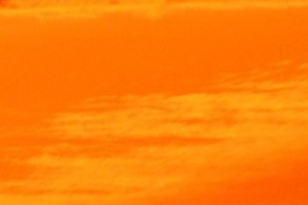 オレンジの空の夢