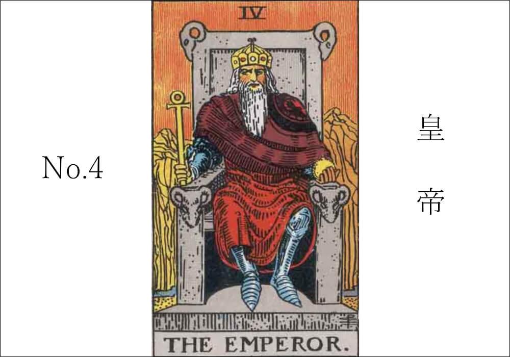 タロットカード皇帝