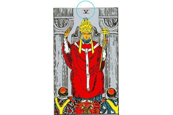 タロットカード法王5番の意味