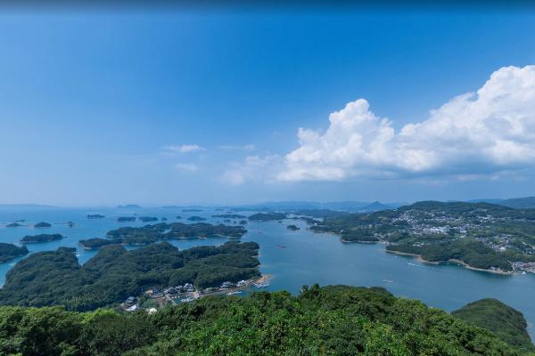 九十九島(くじゅうくしま)を望める展望台