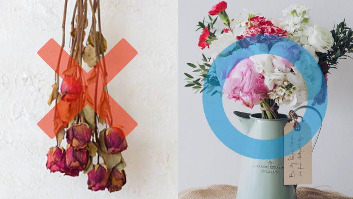 ドライフラワーは死の意味、生花を飾ろう