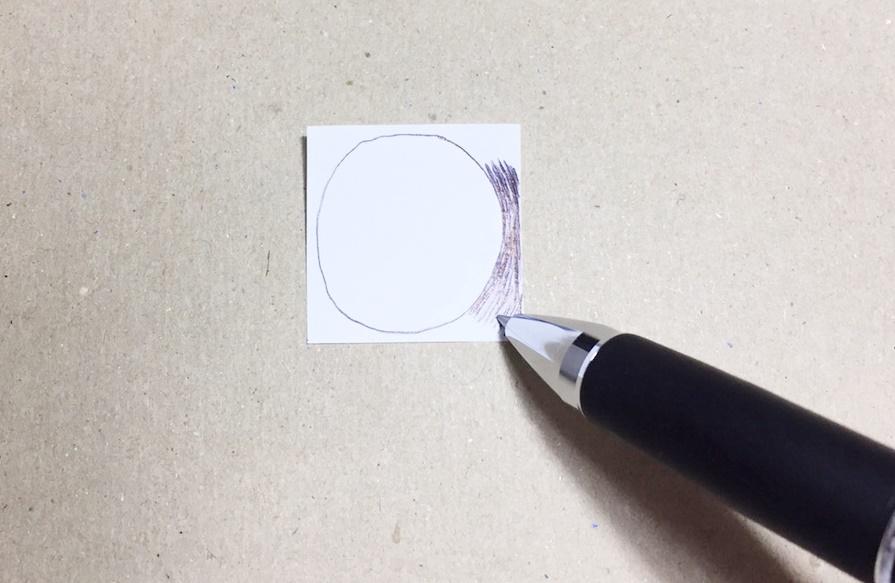 満月を書く