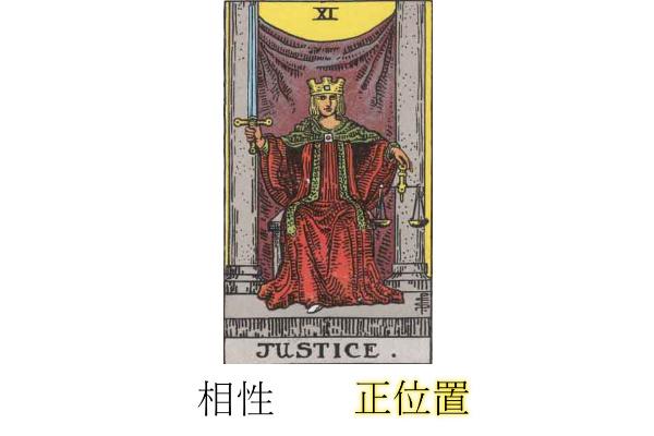 タロットカード正義相性正位置