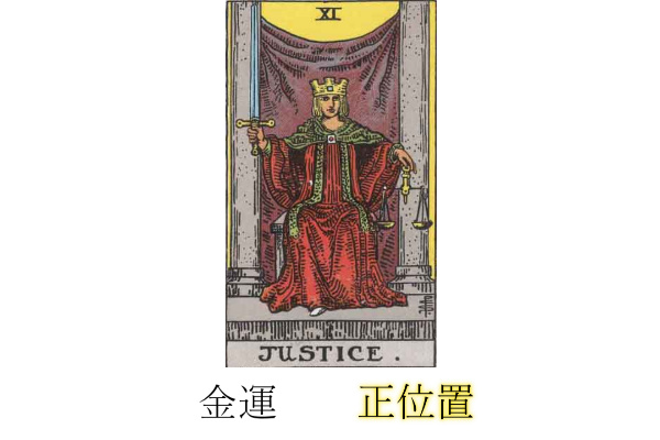 タロットカード正義金運正位置