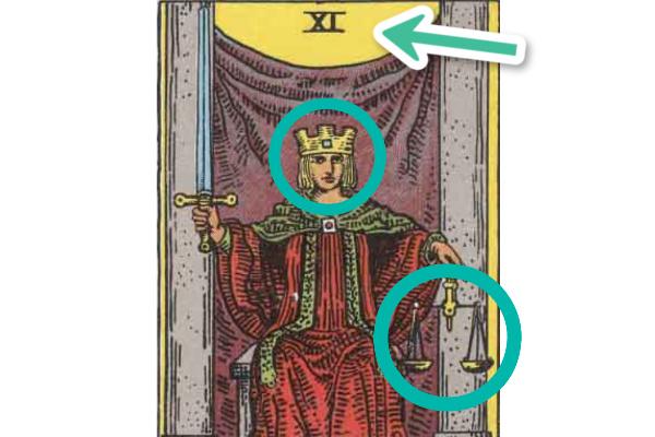 王冠・髪の色・背景・てんびんの黄色