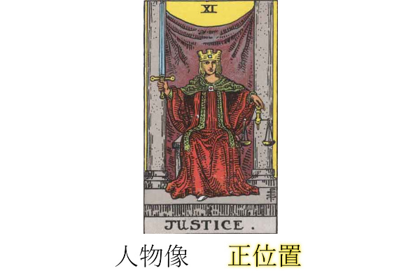 タロットカード正義性格・人物像正位置
