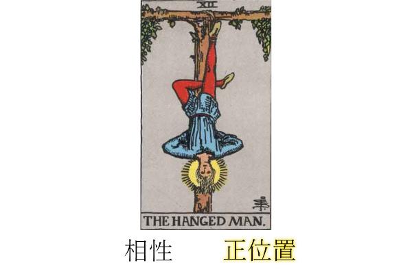 タロットカード吊るされた男相性正位置