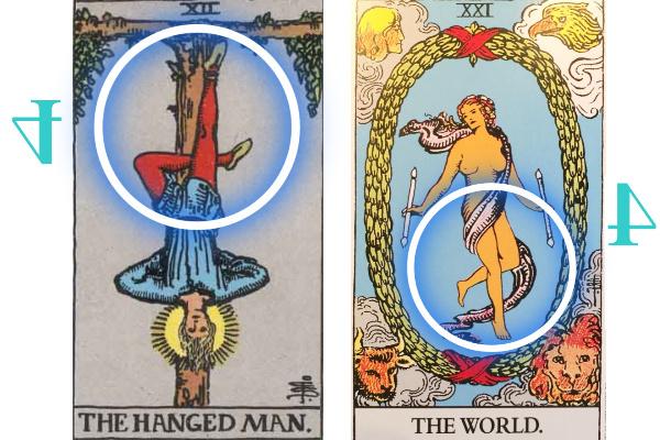吊るされた男と世界の比較
