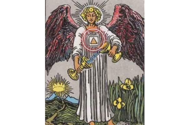 天使とその服にある四角形と三角形の意味