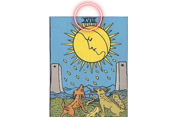 「月(ムーン)」のナンバー18という数字から分かる意味
