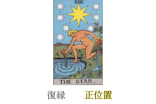 タロットカード星(スター)復縁正位置