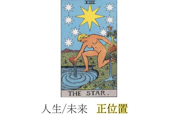 タロットカード星(スター)人生・未来正位置