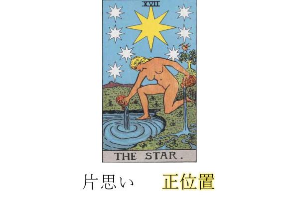 タロットカード星(スター)片思い・相手の気持ち正位置