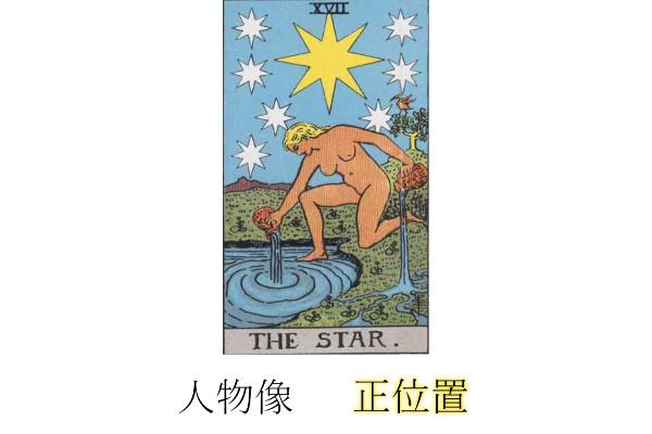 タロットカード星(スター)人物像・性格正位置