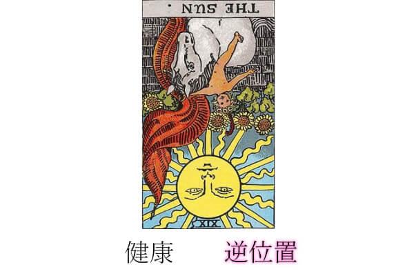 タロットカード太陽健康逆位置