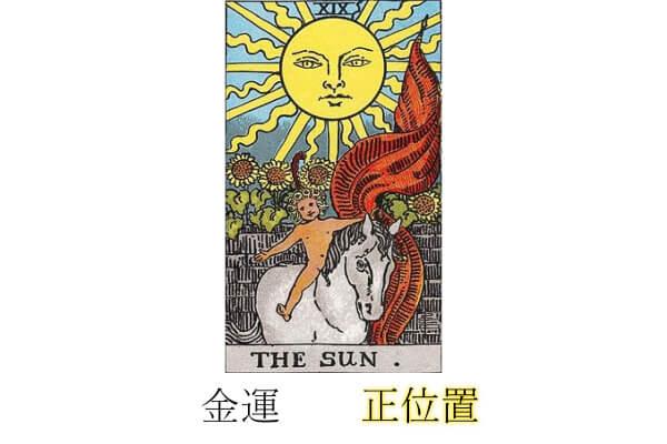 タロットカード太陽金運正位置