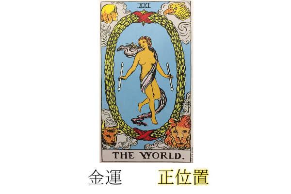 タロットカード世界金運正位置