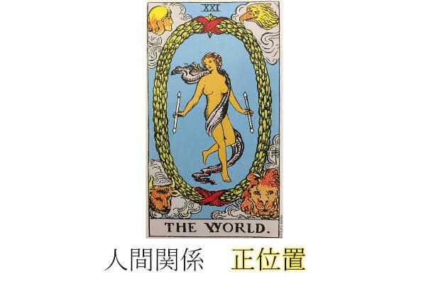 タロットカード世界人間関係正位置