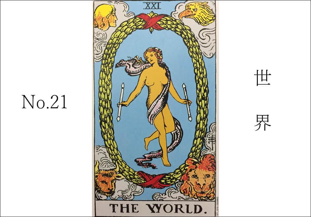 タロットカード世界意味