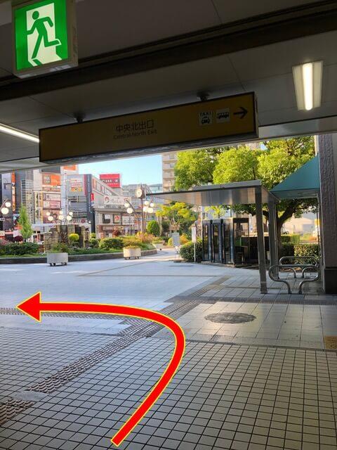 近鉄八尾駅中央改札からの行き方1